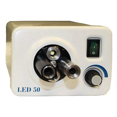 50 Watt LED Light Source with 4-port turret